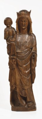 A carved wood group of the Vir