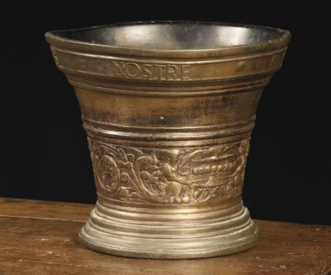 A Dutch bronze mortar