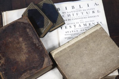 A collection of three bibles