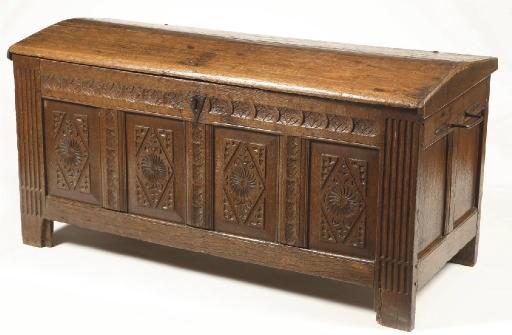 A Dutch oak chest