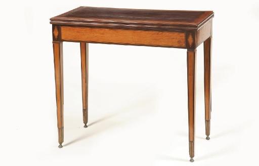 A Dutch satinwood and mahogany