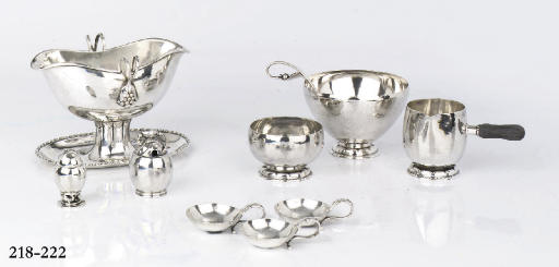 A Danish silver milk-jug, suga