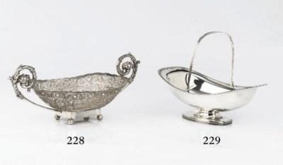 A Dutch silver cake-basket