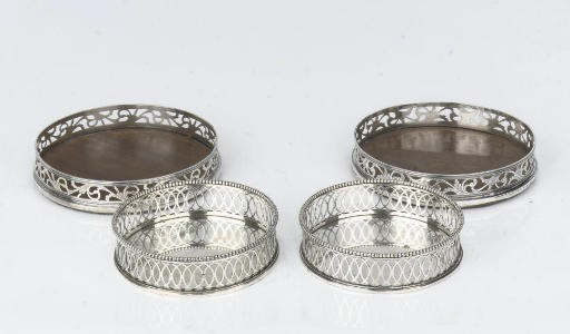 Two pairs of Dutch silver and
