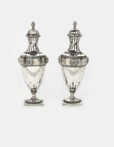 A fine pair of Dutch silver ca