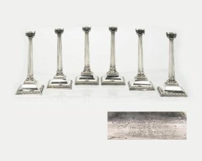 A fine set of six Dutch silver
