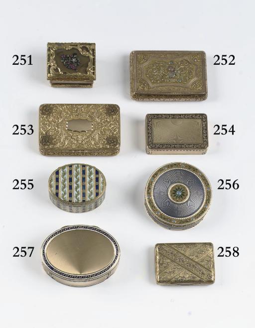 A four-colour gold snuff-box