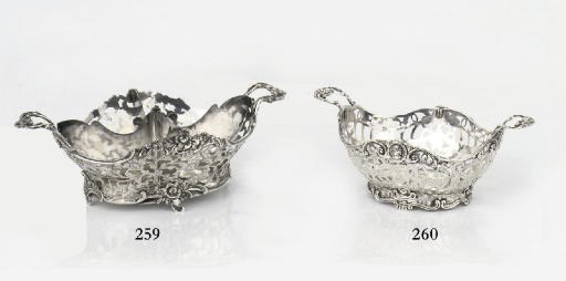 A Dutch silver sweetmeat baske