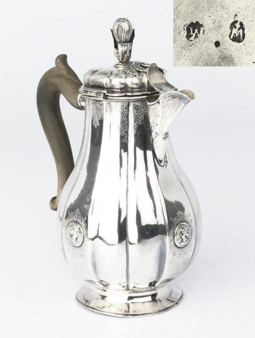 A German silver coffeepot