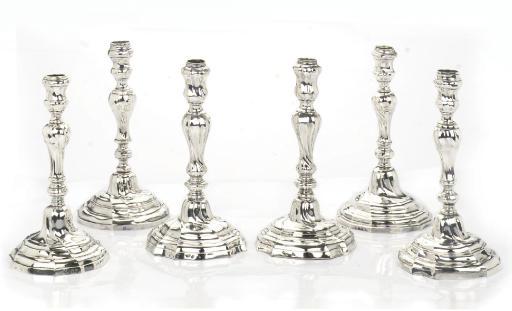 A matched set of six Belgian s
