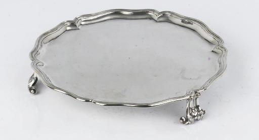 A colonial silver salver