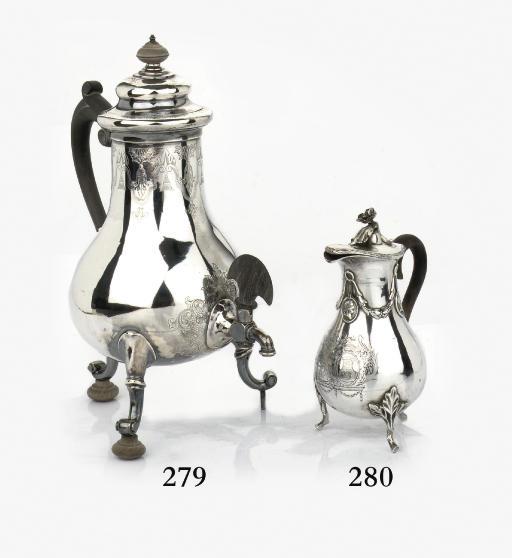 A Dutch silver coffee urn