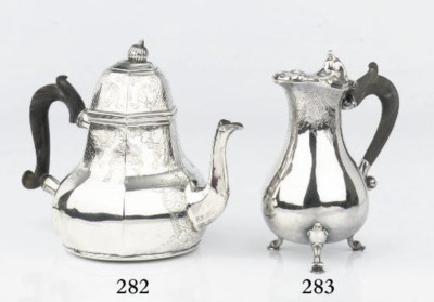 An early Dutch silver teapot