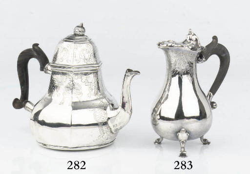 A Dutch silver milk jug