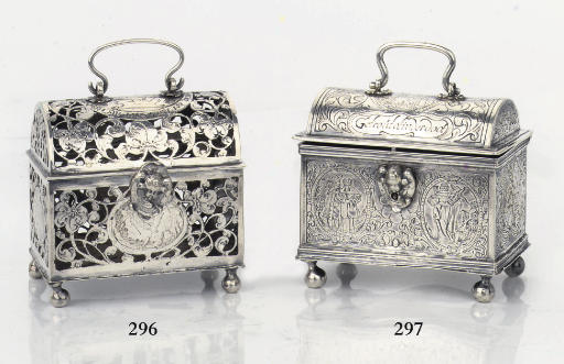 A Frisian silver marriage cask