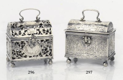 A silver marriage casket 'knot