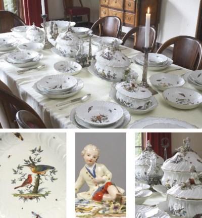 An extensive assembled Meissen