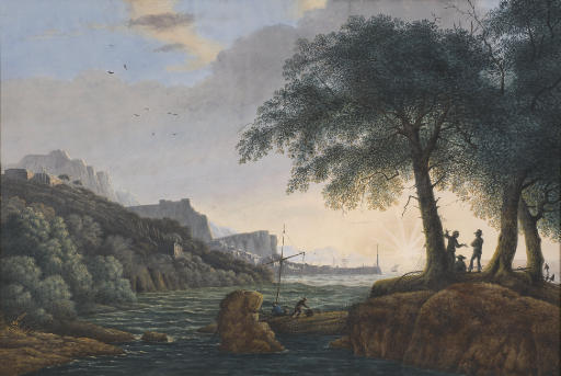A view of Pozzuoli near Naples