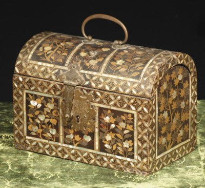 A Japanese export domed chest