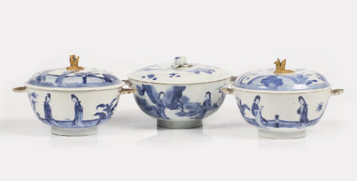A pair and one Chinese blue an