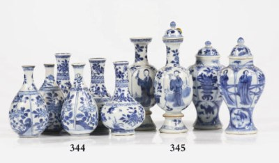 Two pairs of Chinese blue and