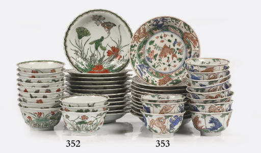 A set of twelve Chinese famill