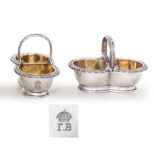 A PAIR OF VICTORIAN SILVER DOU