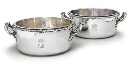 A PAIR OF VICTORIAN SILVER SOU