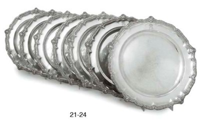 A VICTORIAN SILVER SECOND-COUR