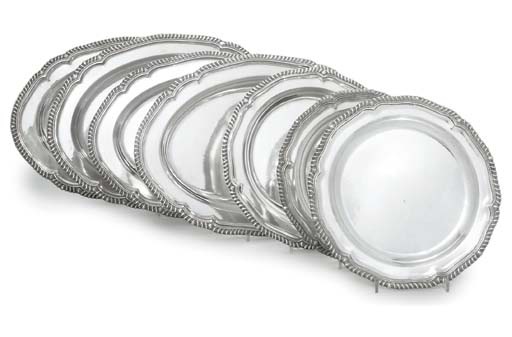 A SET OF FOUR SILVER-PLATED ME