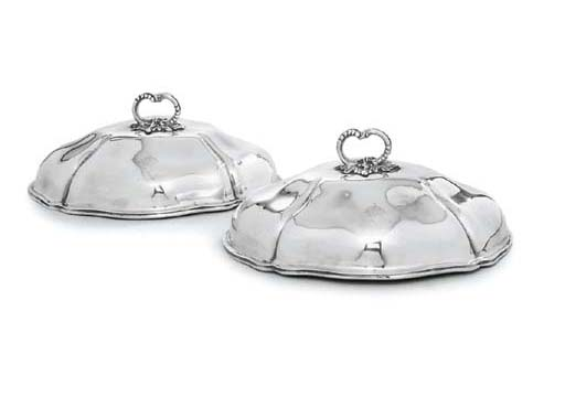 A PAIR OF VICTORIAN SILVER ENT