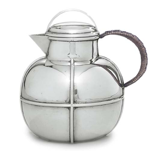 A GEORGE V SILVER HOT-WATER JU