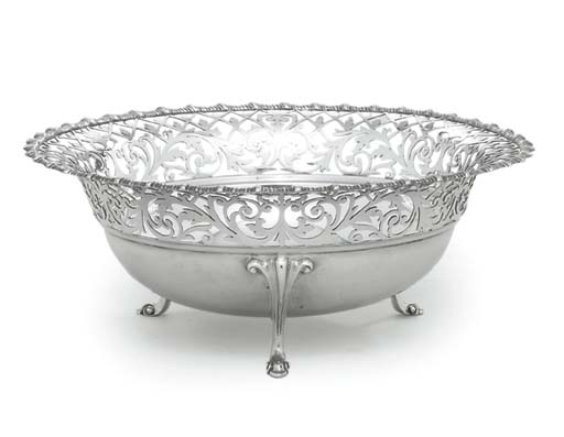 AN EDWARD VII SILVER BOWL