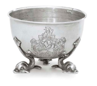 A GERMAN SILVER BOWL