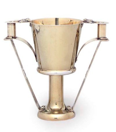 A GEORGE V SILVER-GILT CUP
