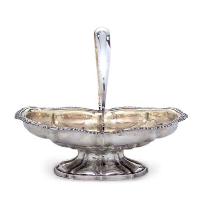 A RUSSIAN SILVER CAKE-BASKET