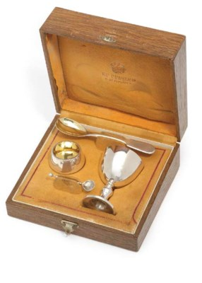 A RUSSIAN SILVER CHRISTENING S
