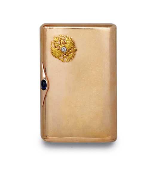 A RUSSIAN GOLD CIGARETTE-CASE