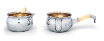 A PAIR OF DANISH SILVER SAUCEP