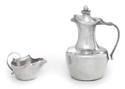 A DANISH SILVER HOT-WATER JUG