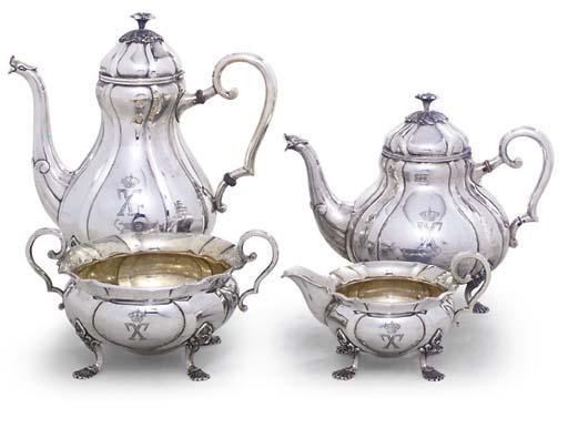 A DANISH FOUR-PIECE SILVER TEA