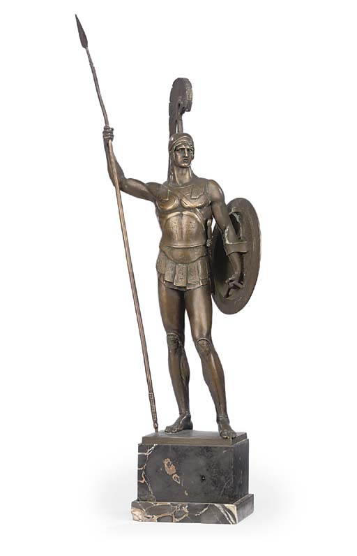 A GERMAN BRONZE FIGURE OF A SA