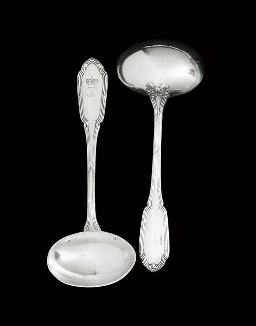 A PAIR OF FRENCH SILVER SAUCE-
