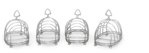 A SET OF EIGHT SILVER-PLATED T