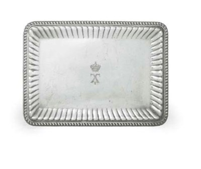 AN AMERICAN SILVER-PLATED TRAY