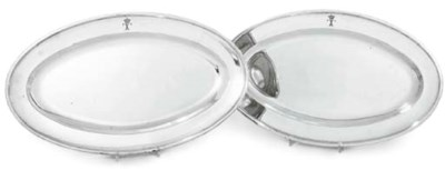 A PAIR OF SILVER-PLATED FISH-D