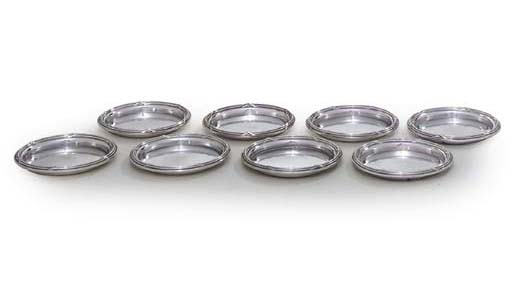 A SET OF EIGHT FRENCH SILVER A