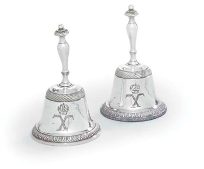 A SET OF THREE FRENCH SILVER-P