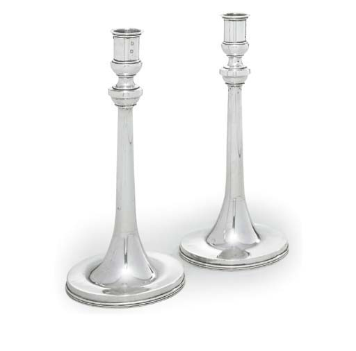 A PAIR OF CONTINENTAL SILVER C