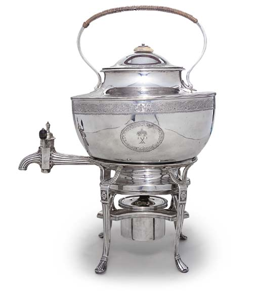 A GEORGE III SILVER TEA-KETTLE